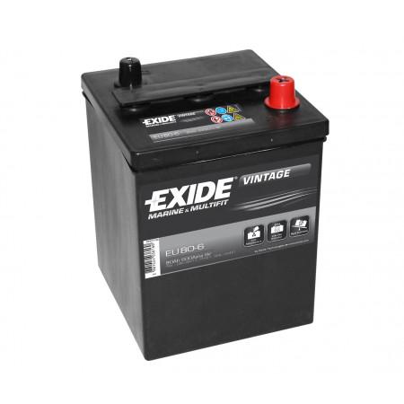 Batterie 6V EXIDE EU80-6 80Ah 600A +D