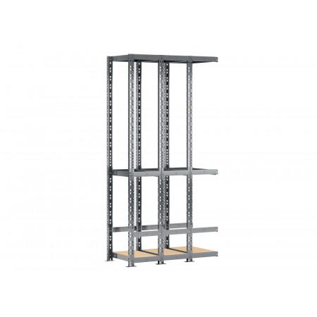 Extension G pour étagère MODULO STORAGE verticale 3 plateaux 40x105