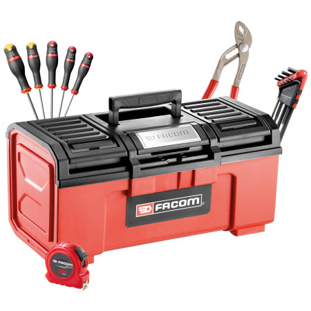 Boîte à outils FACOM plastique + 23 outils