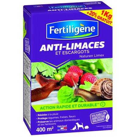 Anti limaces naturel FERTILIGENE 1kg + 20% gratuit
