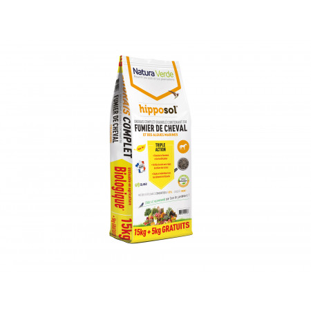 Engrais complet granulé Hipposol 15kg +5kg OFFERTS
