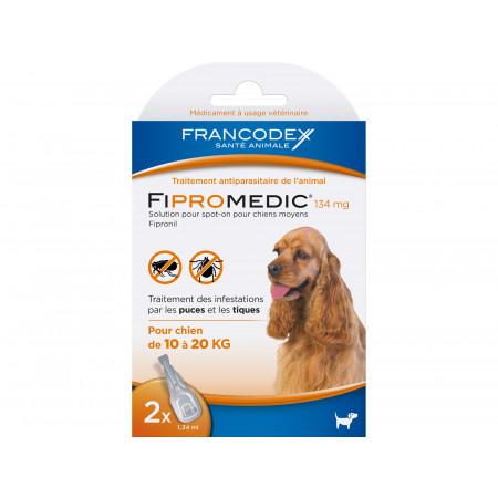 Anti puces et tiques chien moyen FIPROMEDIC 2x1,34ml