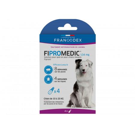 Anti puces et tiques chien moyen FIPROMEDIC 4x1,34ml