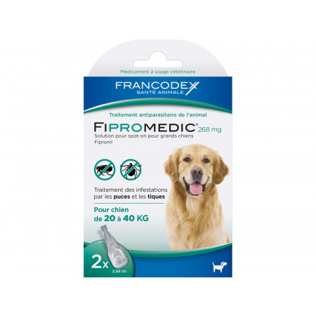 Anti puces et tiques grand chien FIPROMEDIC 2x2,68ml