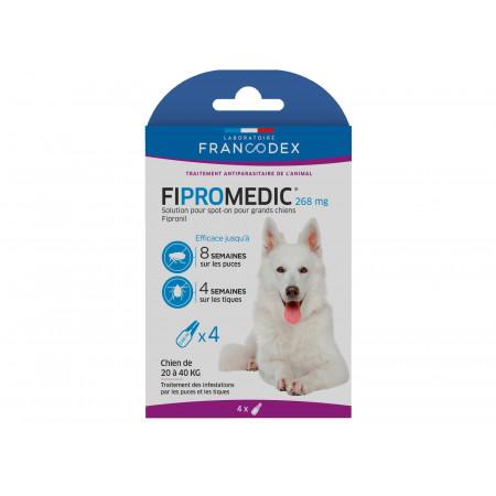 Anti puces et tiques grand chien FIPROMEDIC 4x2,68ml
