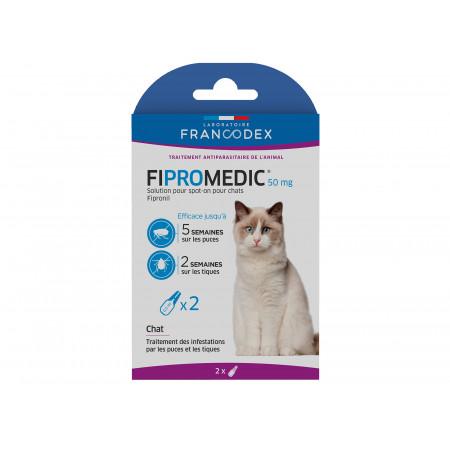 Anti-puces et tiques pour chat FIPROMEDIC x2