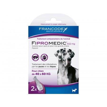 Anti puces et tiques très grand chien FIPROMEDIC 2x4,02ml
