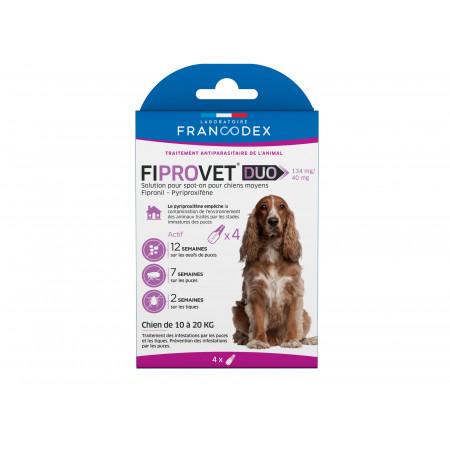 Anti puces et tiques chien FIPROVET x4