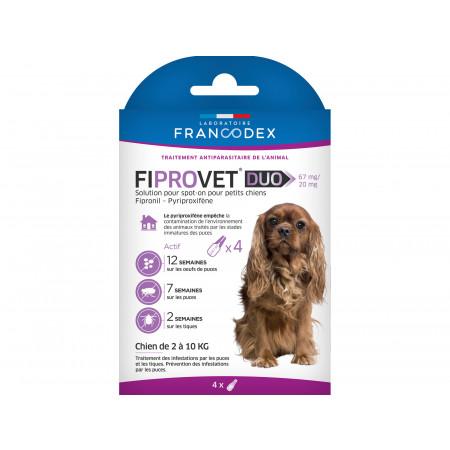Anti puces et tiques petit chien FIPROVET x4