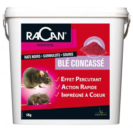 Blé concassé raticide 5kg - USAGE RESERVÉ AUX PROFESSIONNELS