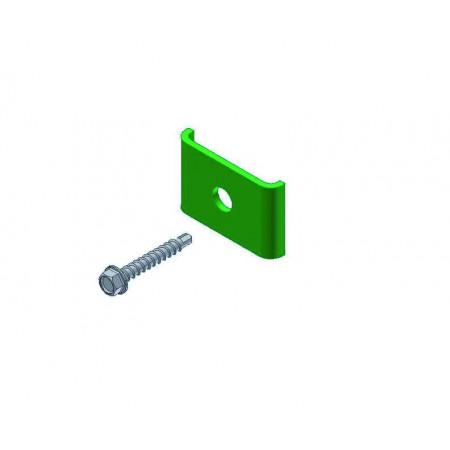 Fixations panneau/portail vert x2