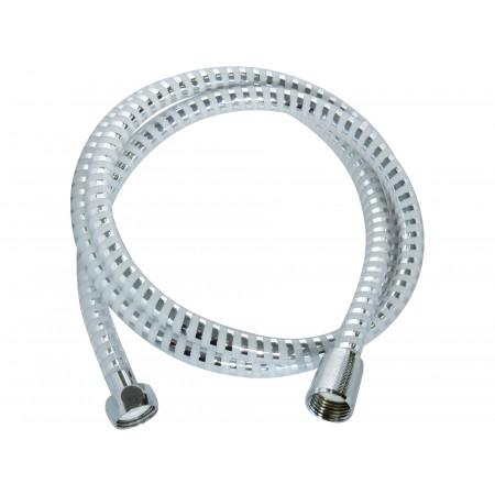 Flexible de douche métal / plastique blanc 1,5m