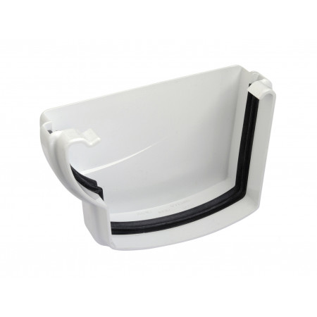 Fond de gouttière gauche à joint Ondella PVC Blanc