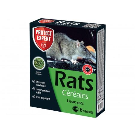 Céréales raticides spécial rats 6x25g