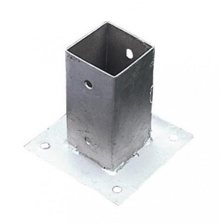 Base métal à visser 7x7