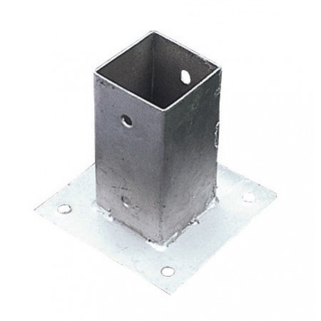 Base métal à visser 9x9