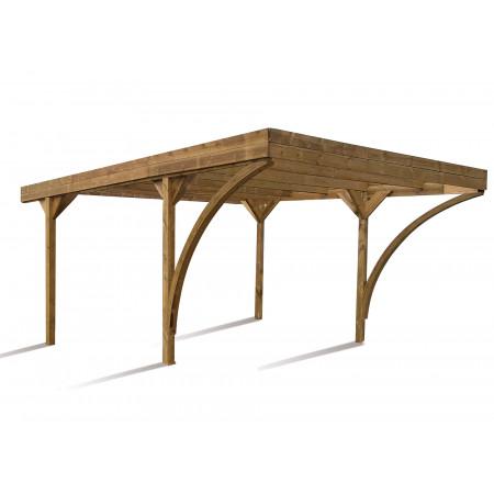 Carport double bois Harold 30,9m²