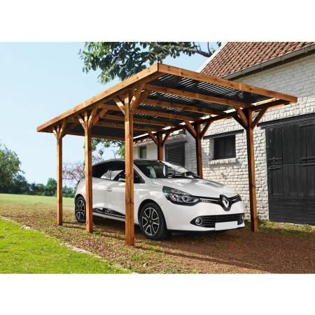 Carport bois Enzo 15,72 m²