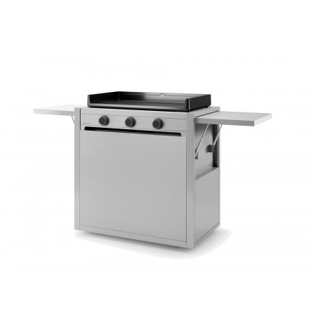 Chariot inox pour plancha Forge Adour Modern 75