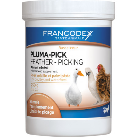 Aliment minéral Pluma-Pick Volailles Francodex 250g