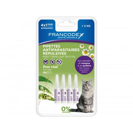 Antiparasitaire répulsif pour chaton 4x1ml