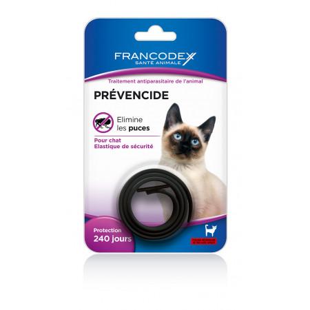 Collier antiparasitaire noir pour chat