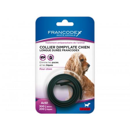 Collier antiparasitaire noir pour chien