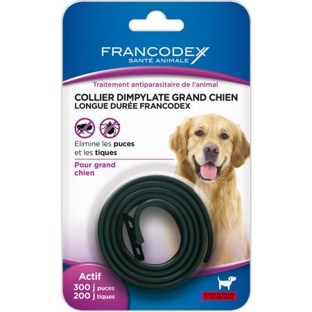 Collier antiparasitaire noir pour grand chien