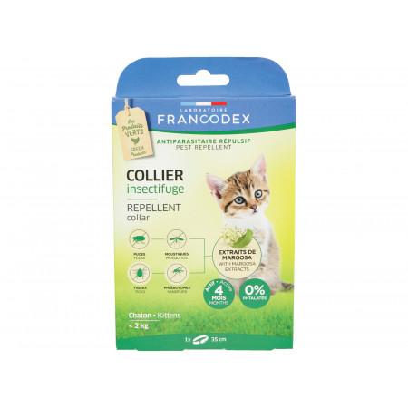 Collier insectifuge chaton jusqu'à 2kg Francodex
