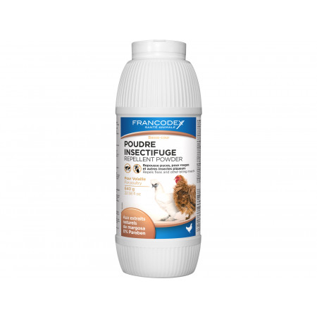 Poudre insectifuge Volailles Francodex 640g