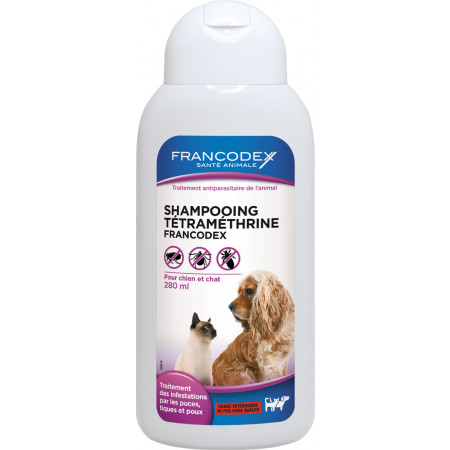 Shampooing chat antiparasitaire Tetrameth 280ml