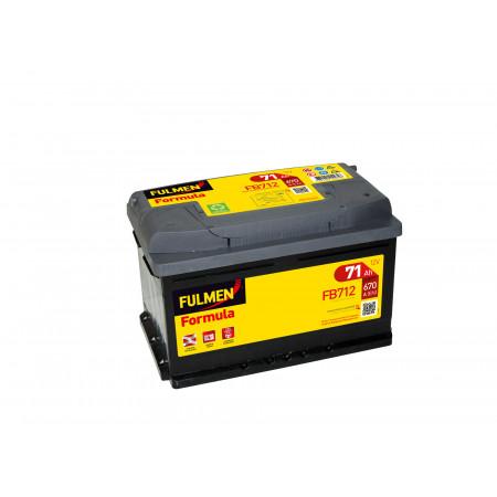 Batterie 12V FULMEN Formula FB712 71Ah 670A +D