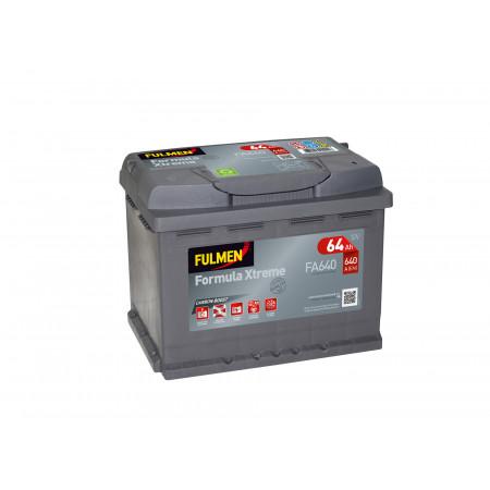 Batterie 12V FULMEN Xtreme FA640 64Ah 640A +D