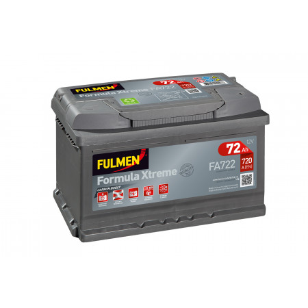 Batterie 12V FULMEN Xtreme FA722 72Ah 720A +D