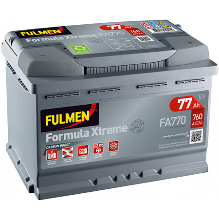 Batterie 12V FULMEN Xtreme FA770 77Ah 760A +D