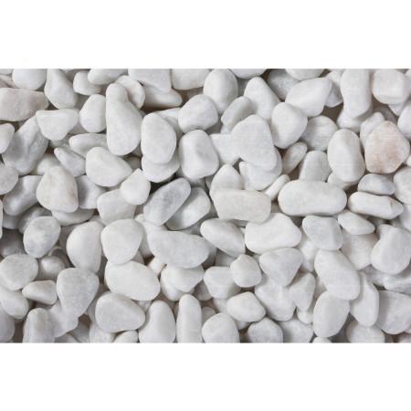 Galet marbre blanc roulé CARRARE 7/15 25kg