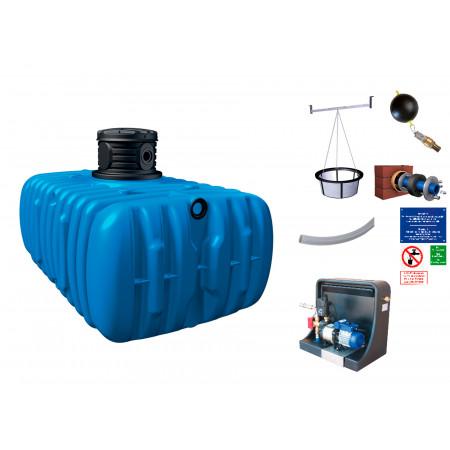 Kit cuve à eau enterrée Habitat Premium Flat 3000L GARANTIA