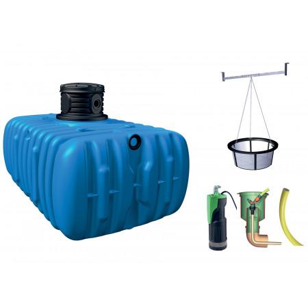 Kit cuve à eau enterrée Jardin Flat Confort 1500L GARANTIA