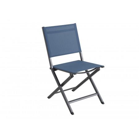 Chaise de jardin pliante Censo Bleu