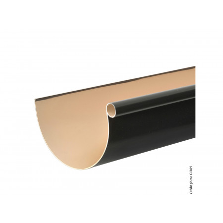 Gouttière PVC demi-ronde 2m D25 Ardoise
