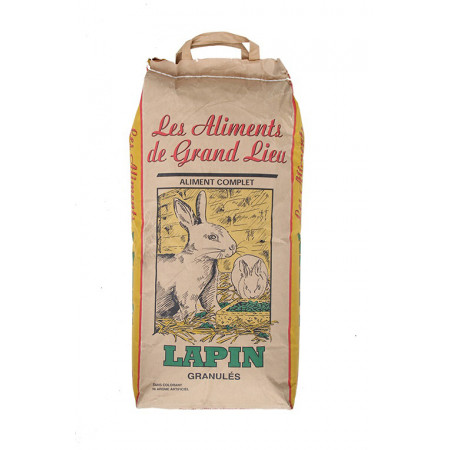 Granulés Lapin Les Aliments de Grand Lieu 10kg