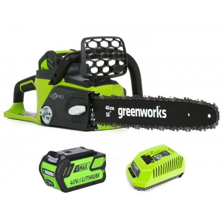Tronçonneuse 40V + batterie + chargeur GREENWORKS