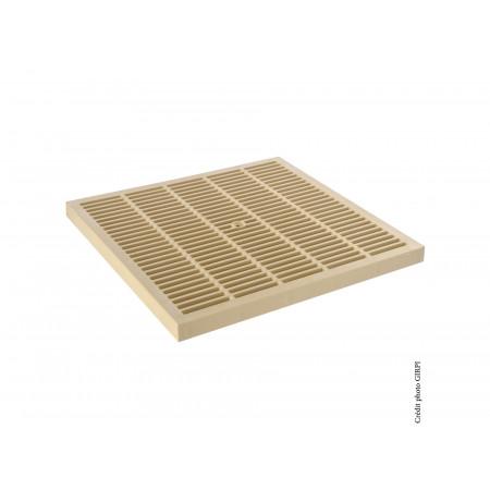 Grille de sol PVC 300x300 sable