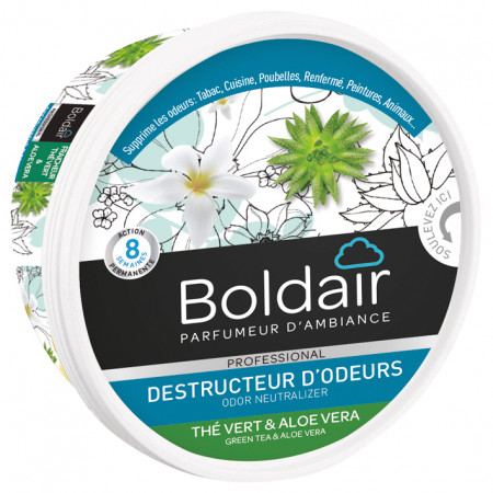 Gel destructeur d'odeur thé vert BOLDAIR