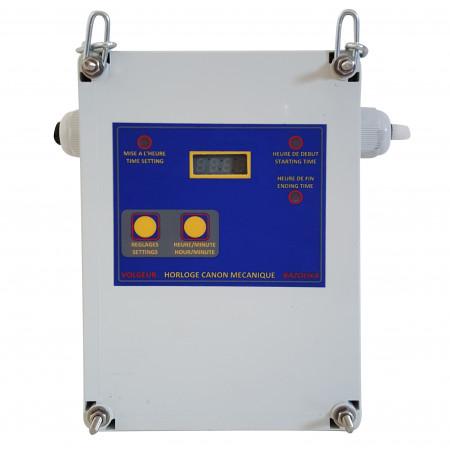 Horloge électronique canon gaz