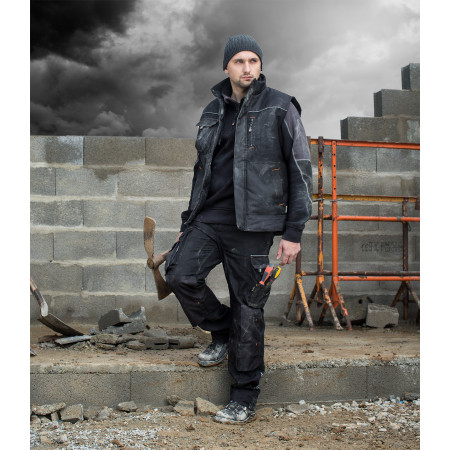 Sweat-shirt Brut HOSTEN noir/gris
