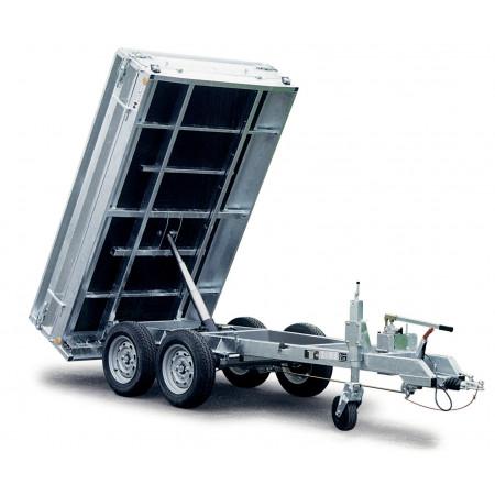 Remorque benne 2 essieux 2500kg HUBIERE