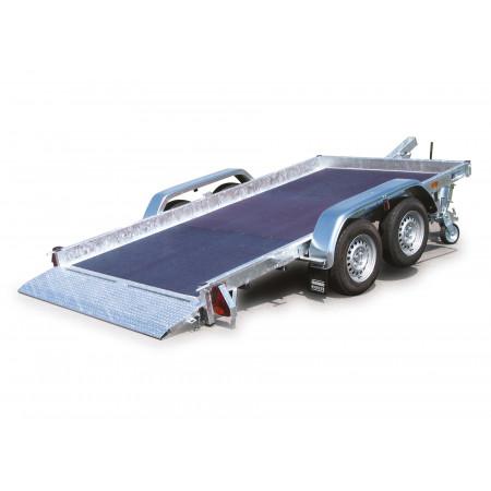 Remorque plateau 2 essieux HUBIERE L.3,50m 2500kg
