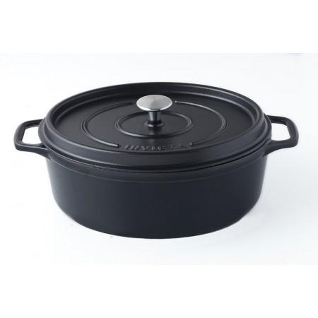 Cocotte mijoteuse ovale tous feux 6L Noir