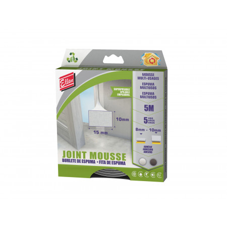 Joint mousse multi-usages blanc 5m